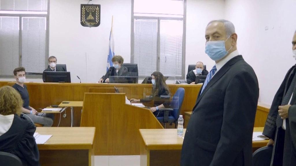 נתניהו באולם בית המשפט