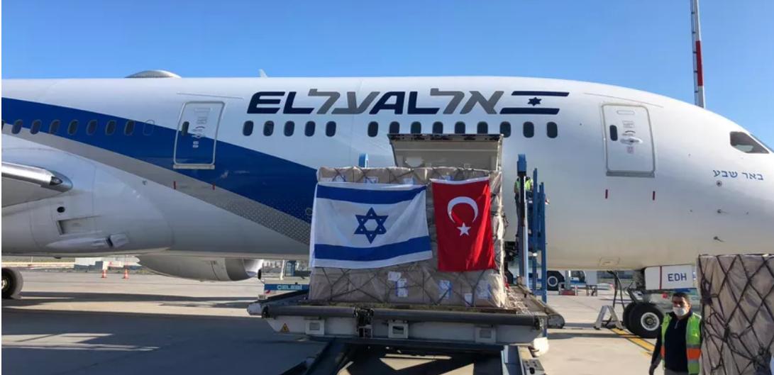 El Al cargo flight to Istanbul on runway at Ben Gurion International Airport. Tel Aviv, Israel. May 24, 2020.