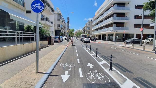 שביל האופניים החדש ברחוב פינסקר