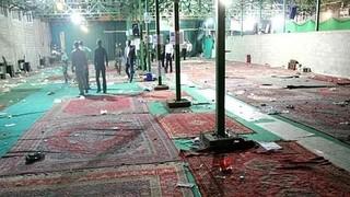 זירת הפיגוע במסגד בשיראז ב-2008