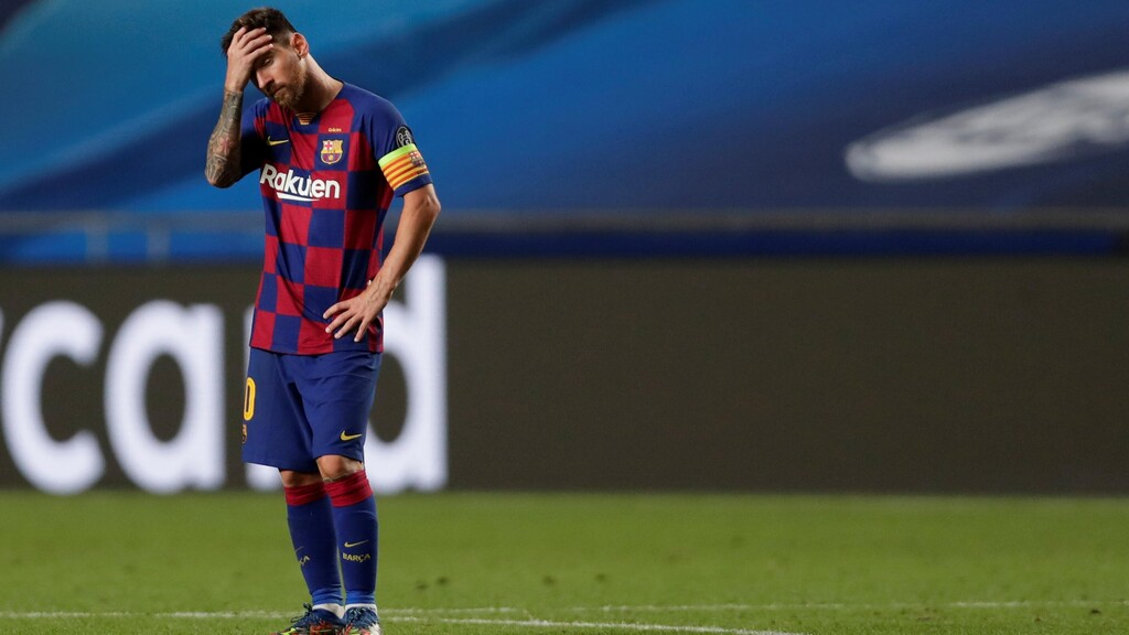 Leo Messi Ter Stegen is disappointed