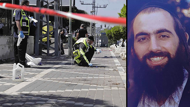 Rabbi Shai Ohayon and the scene of the attack