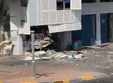 Suite de l'explosion à Abu Dhabi peu avant l'arrivée des délégations israélienne et américaine