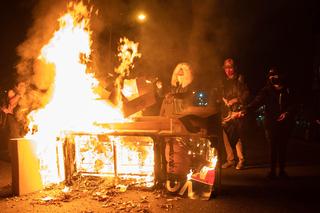 מפגינים הלילה בפילדלפיה
