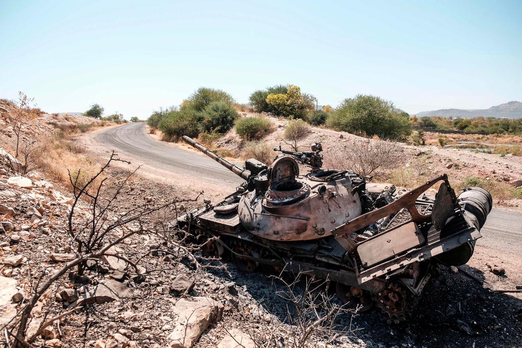 אתיופיה מלחמה ב תיגראי טנק הרוס