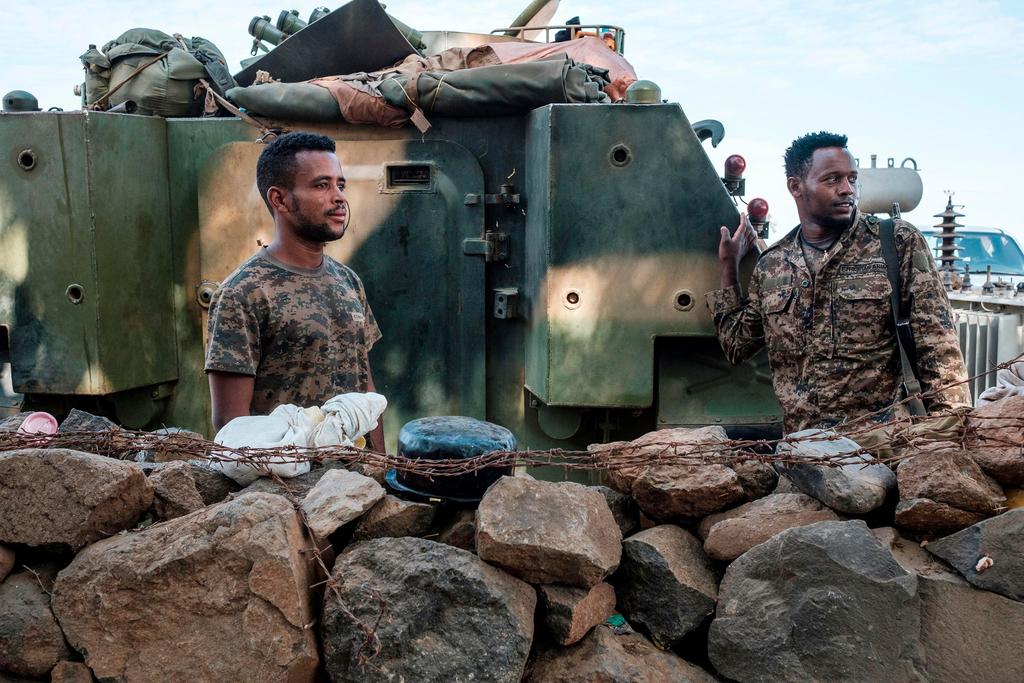 לוחם לוחמים ב צבא אתיופיה באזור תיגראי