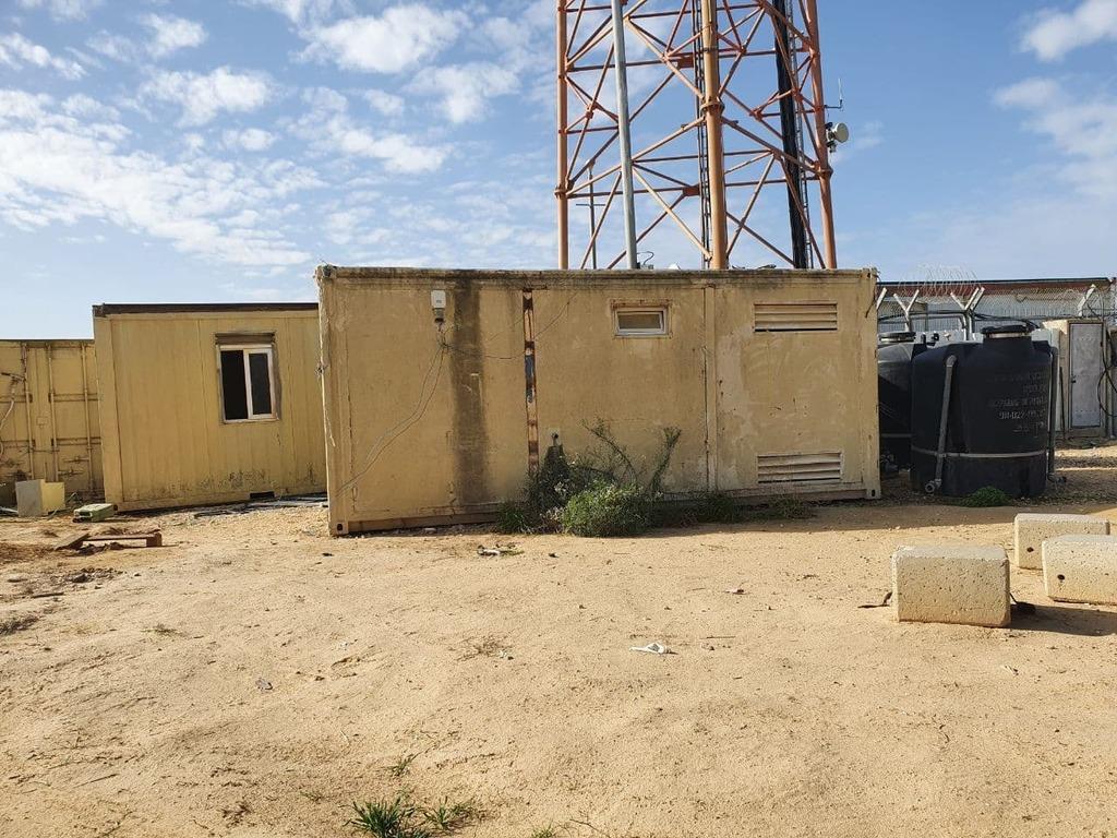 Un poste abandonné à la frontière de Gaza