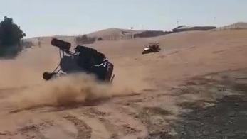 הג'יפ ההפוך במהלך נהיגה פרועה של ישראלים