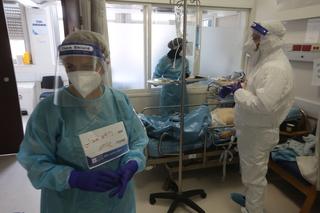 מחלקת הקורונה בבית החולים הדסה עין כרם בירושלים