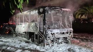 האוטובוס שהוצת במחאת חרדים בבני ברק
