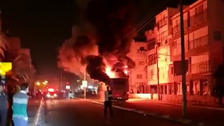 The scene of the riots in Bnei Brak on Sunday night