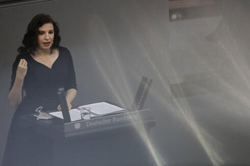 Ukrainian born Jew Marina Weisband delivers a speech at the German Federal Parliament, Bundestag, at the Reichstag building in Berlin, Germany, Wednesday, Jan. 27, 2021 during a special meeting commemorating the victims of the Holocaust on the International Holocaust Remembrance Day.