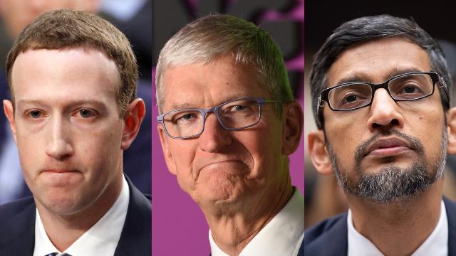 """המנכ""""לים של גוגל, אפל ופייסבוק"""