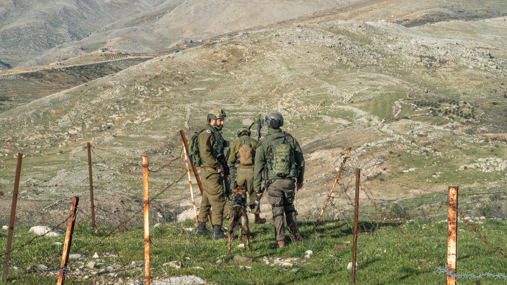 An enclave beyond the fence border Syrian border paratroopers army