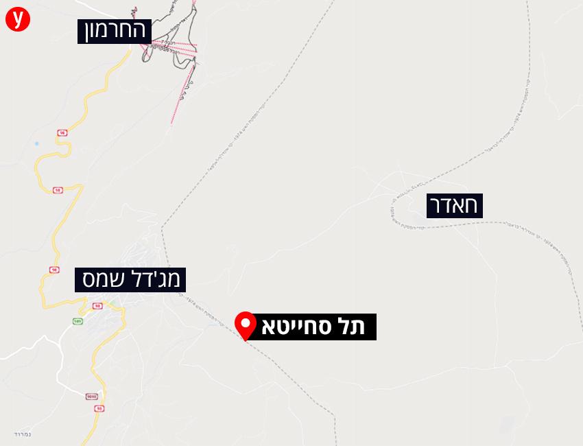 Paratroopers' activity Syria Fence border Tel Sakhita Map