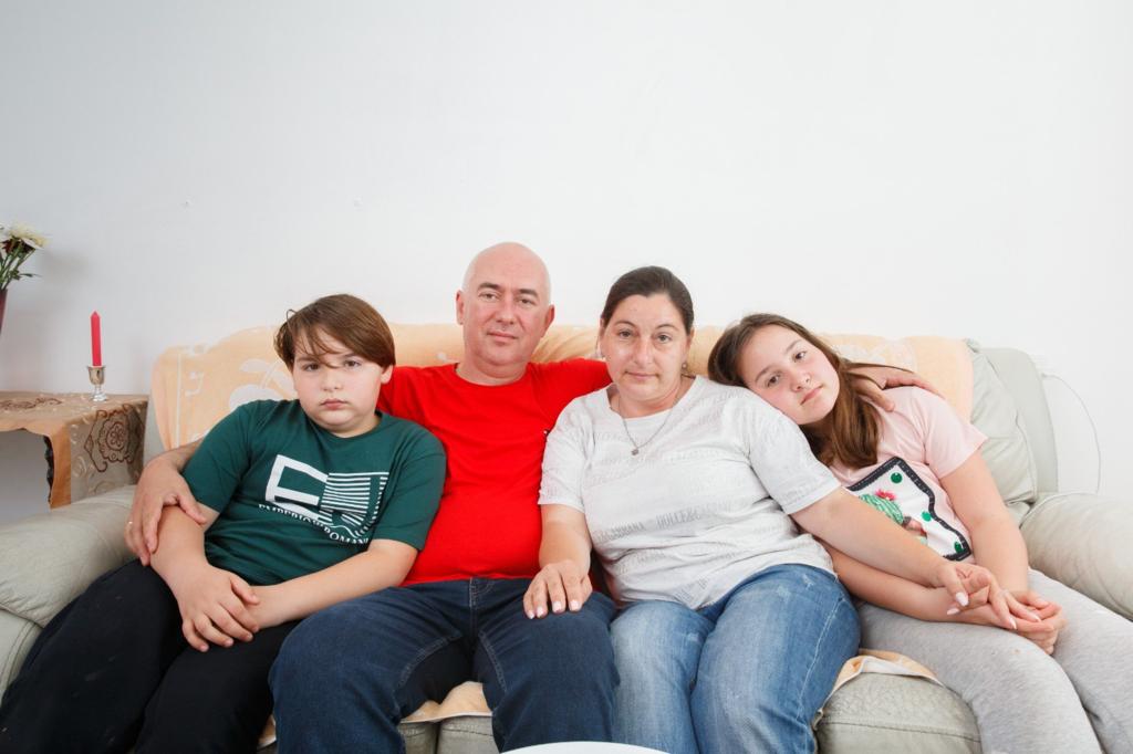 אולגה שיליין ומשפחתה