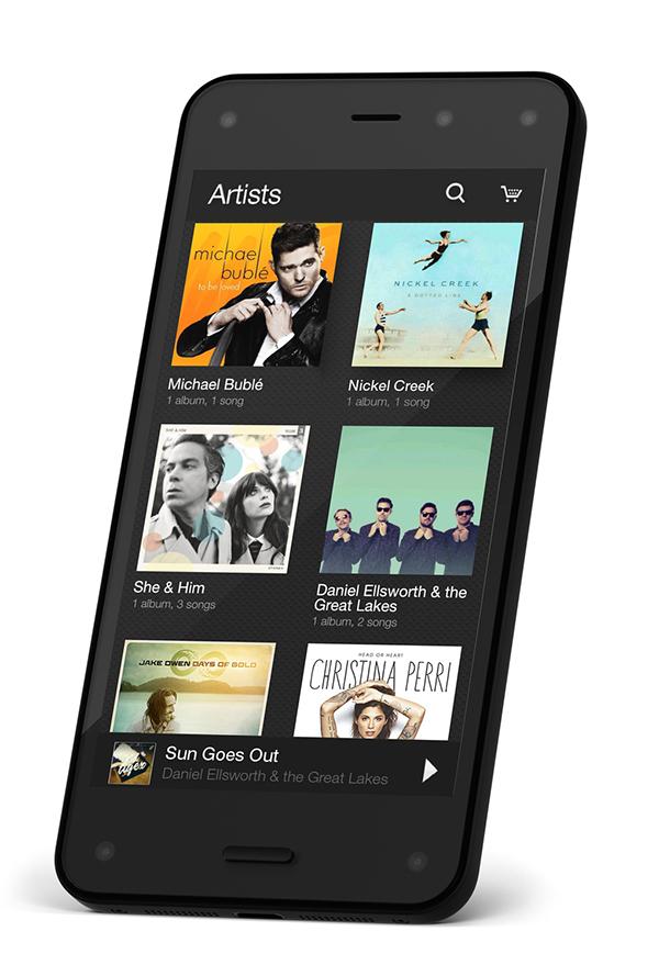 Amazon's Fire Phone עם החנות של אמזון זמינה בכל רגע