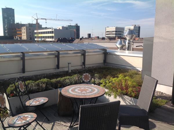 גג טכני ליצור אנרגיה חלופית הפתוח לרווחת האורחים. צילום: גלית שיף