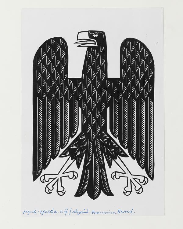 ברוך היתה כנראה שותפה לעיצובו של סמל העיט של הרייך, שנות ה - 20 /
