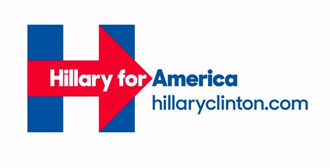 לוגו הקמפיין לנשיאות של הילארי קלינטון