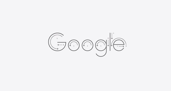 בניית הלוגו מתוך ספר המיתוג של גוגל