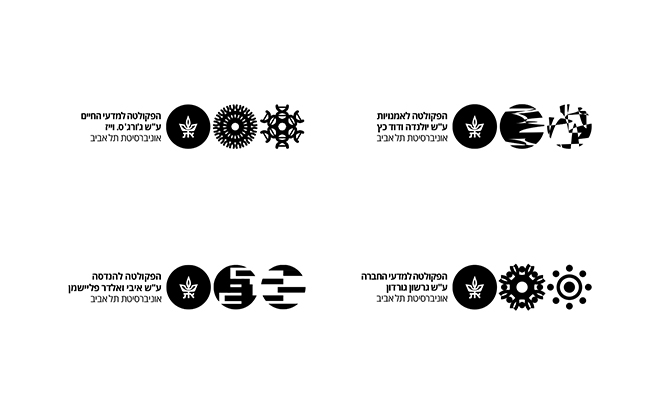 שמות הפקלוטות השונות יחד עם הלוגו המשתנה לצידן / עיצוב וקריאייטיב: אורי נווה, טל ברקוביץ', אסטרטגיה: עטרה בילר