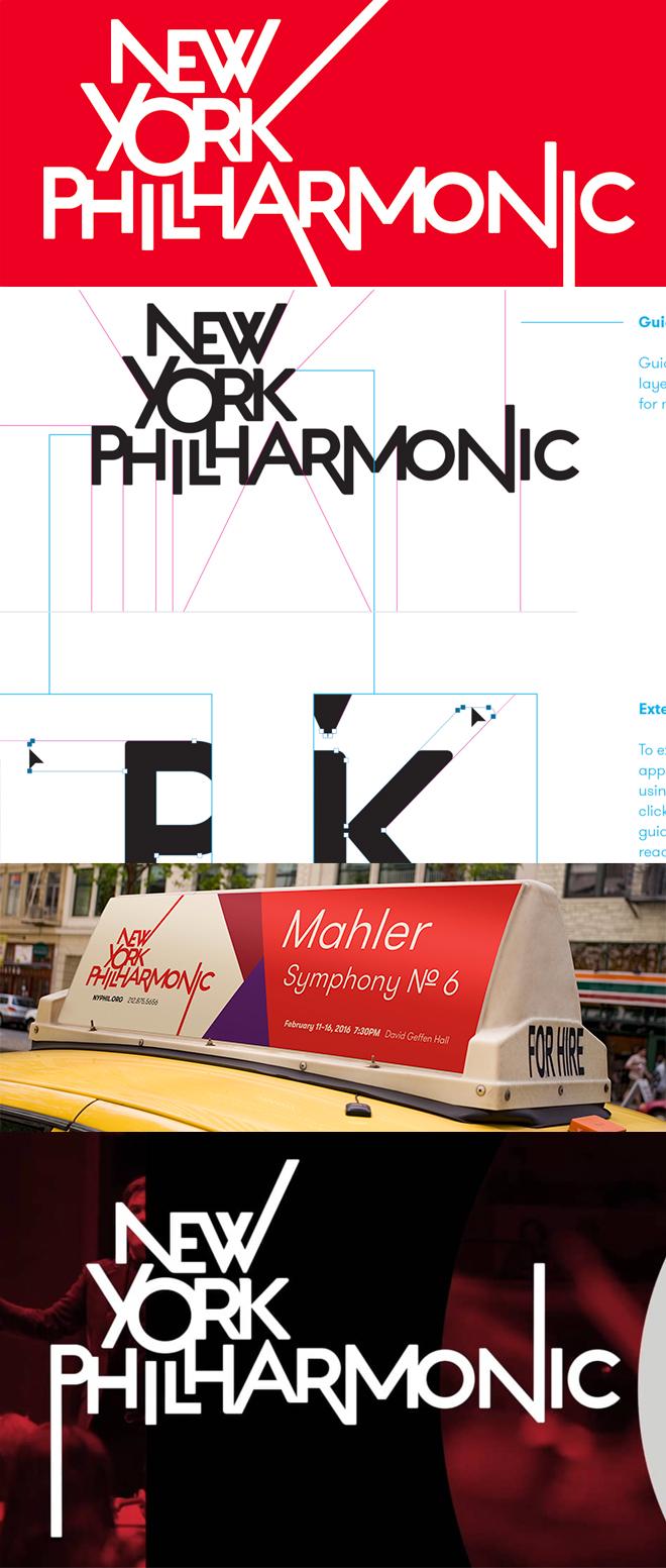 מתוך האתר של MetaDesign, המיתוג של התזמורת הפילהרמונית של ניו יורק