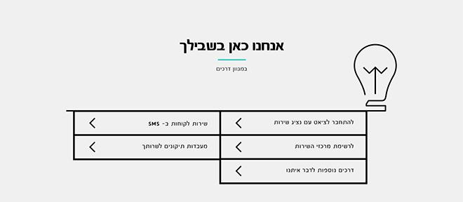פריים מתוך האתר החדש של חברת פרטנר, שפה איורית מודגשת והרבה חללים ריקים