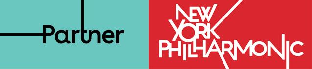 יחי ההבדל הקטן, הלוגואים של פרטנר והתזמורת הפילהרמונית של ניו יורק / עיצוב: META DESIGN