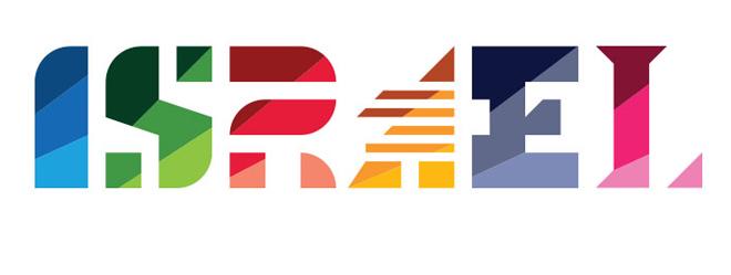 לוגו מדינת ישראל עם אותיות משתנות, 2014 / עיצוב אותיות: ינק יונטף, OPEN
