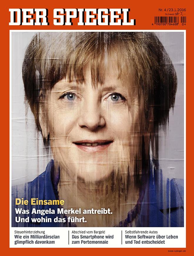 מנהיגת העולם החופשי, אנגלה מרקל על שער הדר שפיגל /