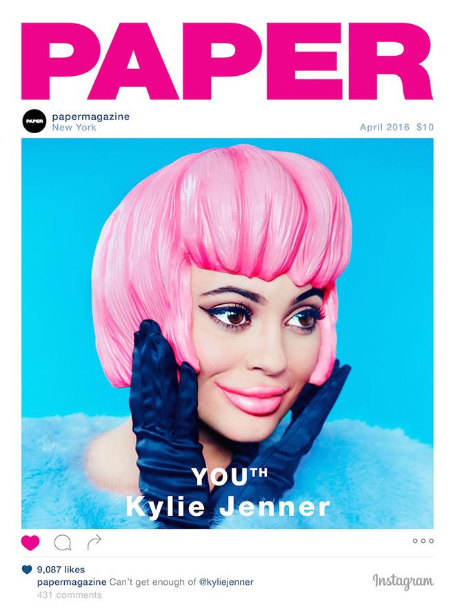 אחרי שהאחות הגדולה קים שברה את שיאי המכירות, במגזין פייפר הבינו את השיטה, האחות קיילי ג'נר על השער של פייפר /