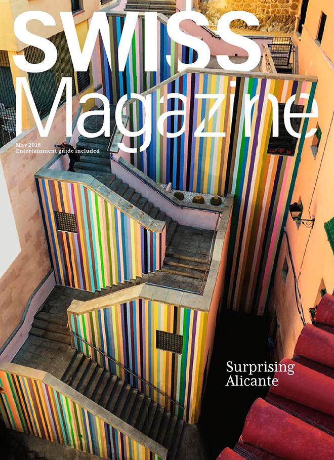 שער צבעוני ויפיפה של מגזין חברת התעופה