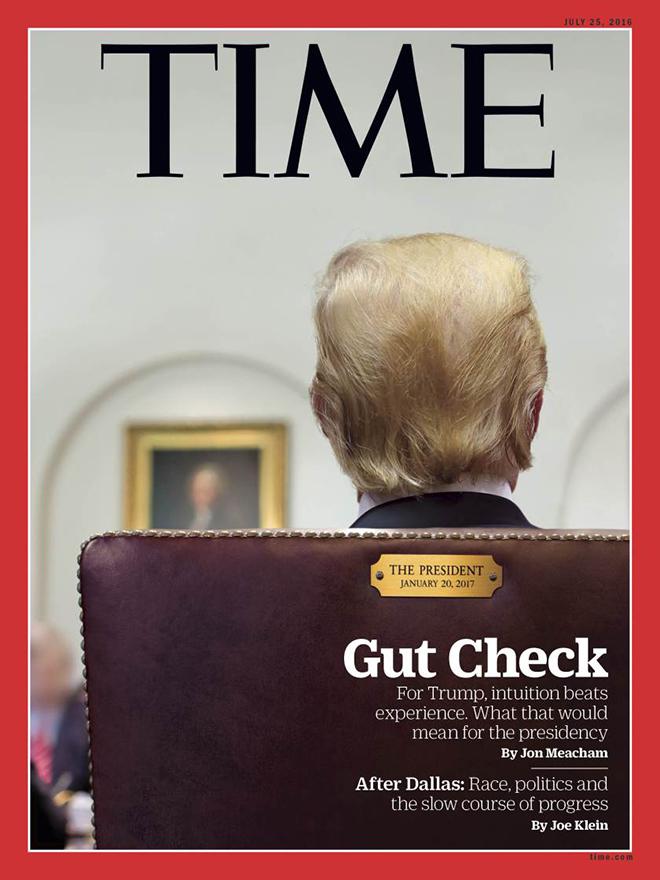 גב נוסף הפעם של טראמפ בשער למגזין TIME  /