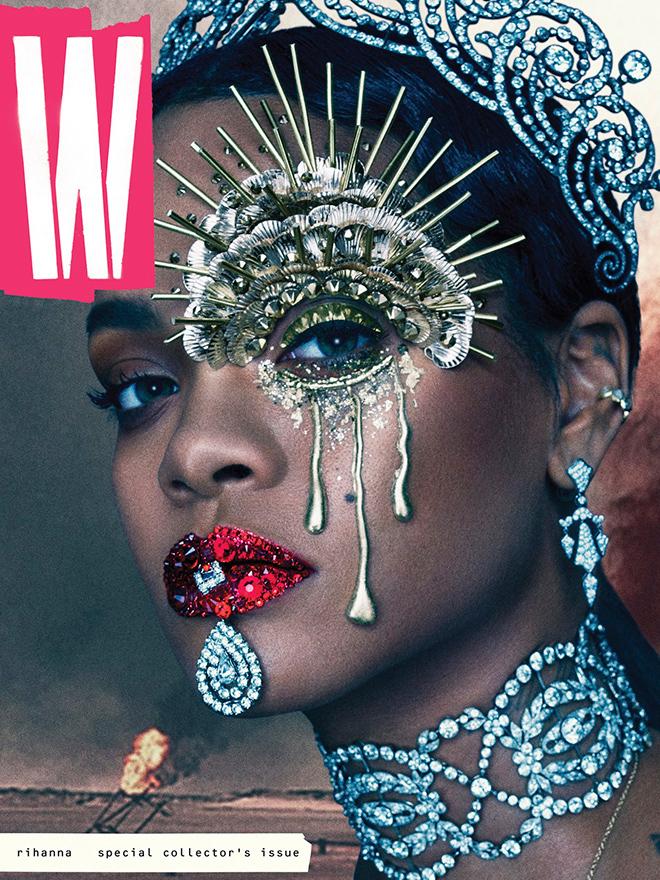 ריהאנה באחד השערים המדוברים של השנה למגזין W /