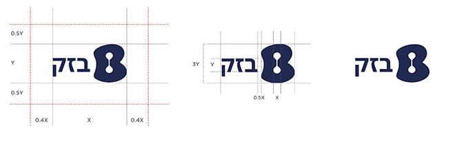 מתוך ספר המותג: האזורים הסטרילים והמרחקים של הלוגו בגרסה הרוחבית שלו  / עיצוב: OPEN