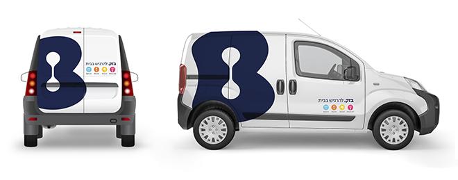 מתוך ספר המותג: עיטוף הרכבים החדש של בזק / עיצוב: OPEN