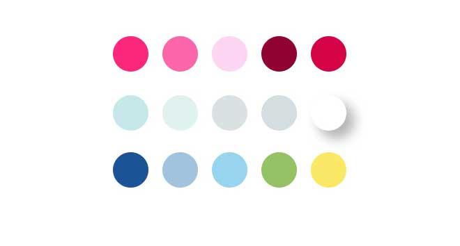 מתוך המצגת ללקוח - הבחירה בצבעונות ראשית ותת-צבעים / סטודיו LYLY