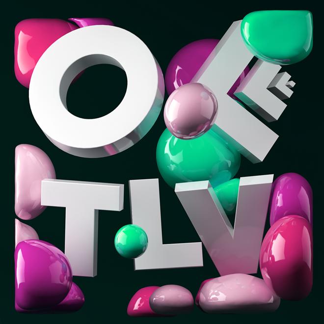 עיצוב תלת מימדי של שי סמנה ללוגו של OFFF TLV