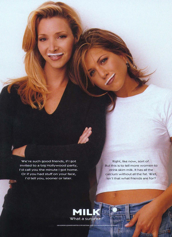 ג׳ניפר אניסטון וליסה קודרו, כוכבות הסדרה ״חברים״ / שנת 1995