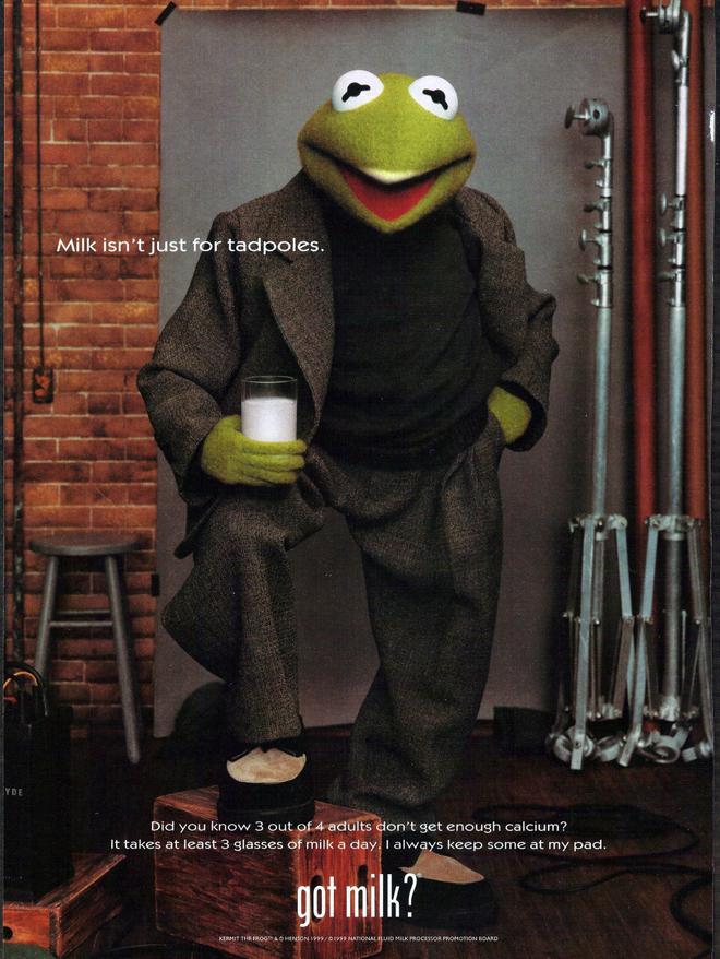 ״חלב הוא לא רק ראשנים״, קרמיט הצפרדע לGot Milk / שנת 1999