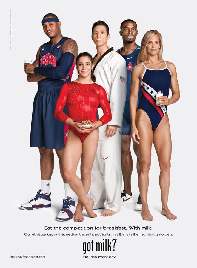 הנבחרת האולימפית האמריקאית על כרזה משנת