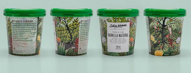 מראה הג'ונגל ב360 מעלות על גבי אריזת הגלידה / עיצוב: Siegenthaler &Co