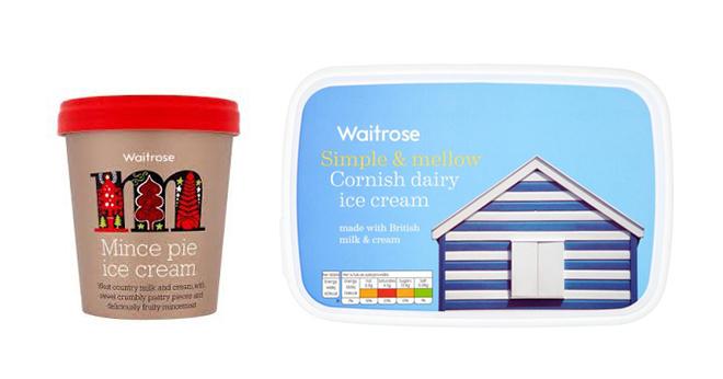 אריזות שונות של רשת הסופרמרקטים הבריטית Waitrose