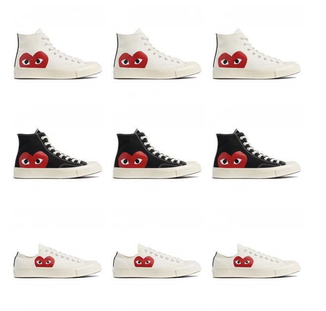 שיתוף פעולה של חברת הנעלים קונברס וPLAY לקום דה גרסון / עיצוב: פיליפ בוקובסקי