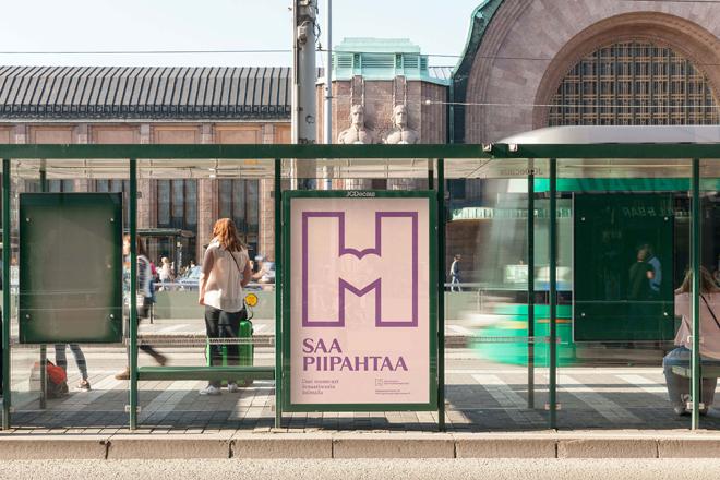 חלק מקמפיין חשיפת המיתוג של המוזיאון בעיר הלסינקי / עיצוב werklig