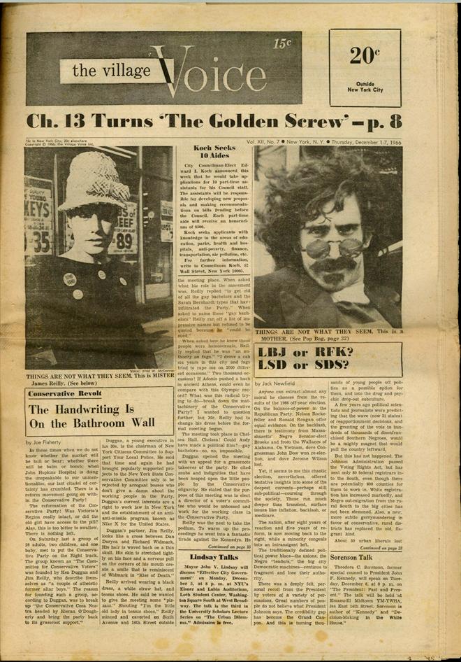 גיליון הווילג׳ וויס משנת 1966