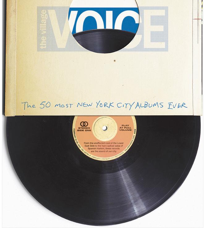 שער גאוני בעיצובו של טום קרלסון משנת 2014 - מצעד 50 התקליטים הכי ניו יורקים