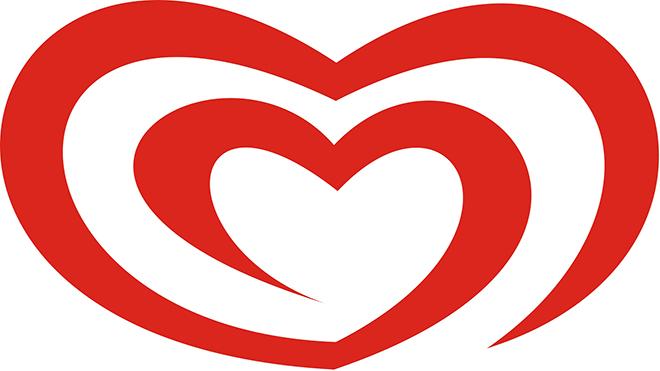 לוגו מותגי הגלידה של חברת יוניליבר / עיצוב: Carter Wong
