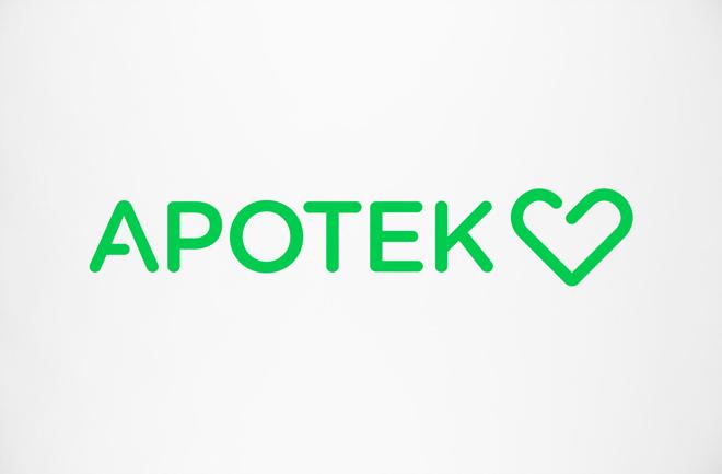 הלוגו של רשת בתי המרקחת השוודית Apotek Hjärtat / עיצוב: BVD
